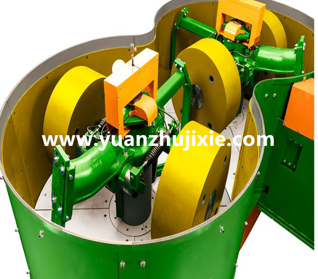 Roller continuous green sand mixer